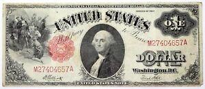 1917 $1 ONE DOLLAR LEGAL TENDER UNITED STATES NOTE George Washington Large Note