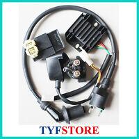 Electric set Ignition coil cdi relay regulator for 125 150cc GY6  ATV Go Kart