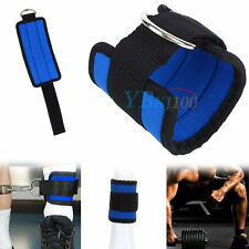Adjustable Gym Sport Ankle D-Ring Strap For Leg Thigh Pulley Lifting Accessory