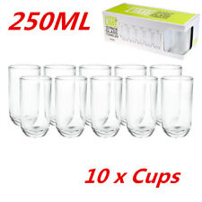 Rounded Tumblers 250ml Clear Drinking Glasses Cups Restaurant Bar Tableware WMCV