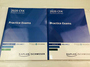 2020 Schweser CFA Level 3 (III) Practice Exams - Volume 1 & 2