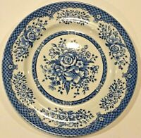 WOOD & SONS New Kew Blue Floral Dinner Plate- Made England