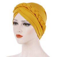 Women Cap Muslim Hair Hats Turban Braided Head Multicolor Fashion Winter Caps D