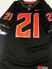 NWT OSU Oklahoma State Cowboys Nike Football Jersey # 21 Men's L Large Black NEW
