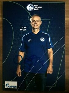 Handsignierte Autogrammkarte *OLAF THON* S04 FC Schalke 04 20/21 2020/2021 RAR