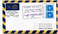 FFC 1966 Lufthansa First Flight 690 Athen Karachi Delhi Bangkok Singapore Sydney