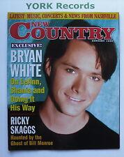 NEW COUNTRY MAGAZINE - January 1998 - Bryan White / Ricky Skaggs