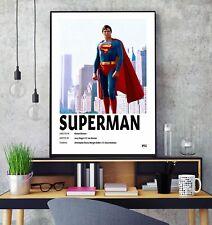 Superman (1978) Premium Minimalista Movie Poster Print