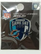 Miami Dolphins VS Dallas Cowboys 9/22/19 NFL Game Day Pin FAST FREE SHIPPING