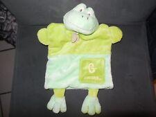 368/ doudou marionnette G comme grenouille verte BABY NAT'