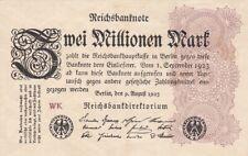 * Ro. 103a - 2 millones de marcos-Deutsches Reich - 1923-Fz: WK *