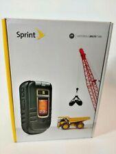 Motorola Brute i686 Black Sprint Cellular Cell Flip Phone NEW w/accessories NOS