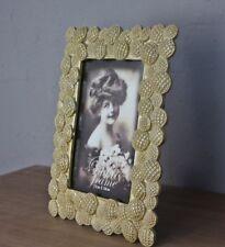 Cadre d'image BAROQUE OR EN BRONZE ANCIEN à poser photo fleurs Shabby 26x21