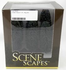 "5"" - 6 "" Cedar Trees (Pkg of 6) - Bachmann SceneScapes #32005"
