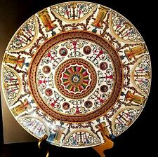 "ORIENTAL ACCENT 16"" CHARGER PLATE PLATTER GREAT DETAIL RED YELLOW GREEN GOLD"