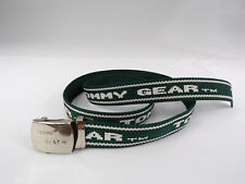 "Vintage Tommy Hilfiger Gear Web Belt Green White TOMMY GEAR Fit up to 46"" EUC"