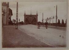 Strasbourg Pont de Kehl France Allemagne Snapshot Photo Vintage Citrate c1900