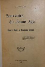 Léon LYON-CAEN, Souvenirs du Jeune Age 1912 Édition hors commerce rare !