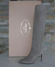 luxus Prada Stiefel Gr 39 boots Schuhe Shoes pomice 1W101F NEU UVP 1200 €
