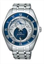 CITIZEN CAMPANOLA Men's watch Eco Drive Moon phase Blue lacquering BU0020-54A