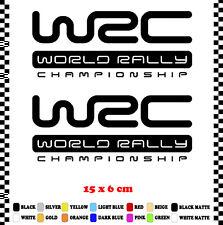 PEGATINA/STICKER/DECAL/AUFKLEBER/VINYL LOGO WRC WORLD RALLY CHAMPIONSHIP