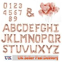 Rose Gold Alphabet Letter&Number Foil Balloons Personalised Birthday Party UK