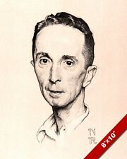 NORMAN ROCKWELL SELF PORTRAIT SKETCH ARTOIL PAINTING PRINT ON REAL CANVAS