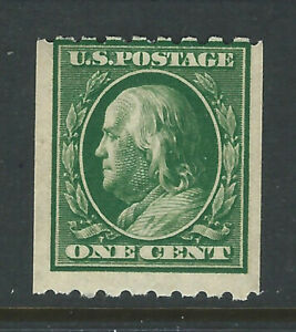 Bigjake:#390, 1 cent Franklin Coil, Perf. 8 1/2 H - *NH