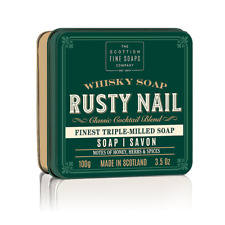The Scottish Fine Soaps Company Rusty Nail Soap in a Tin 100g - Made in Scotland