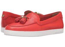 NIB Size 6 Michael Kors Callahan Slip on Shoes Sienna Red-Orange Leather