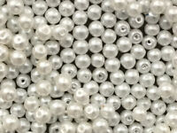 400+  Ivory Glass Pearl Beads. 4mm. jewellery rmaking, crafts