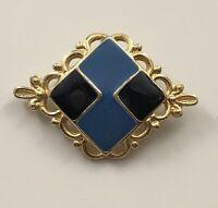 Vintage Art Deco style  brooch in enamel on metal