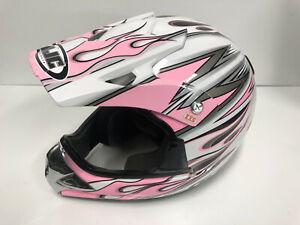Pink Helmet Motorcycle ATV Off Road HJC Burn CS-X4 Motocross Dirt Bike Size XXS