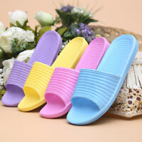 Women Bath Slippers Non-Slip Indoor Home Shoes Beach Bathroom Casual Sandals NEW