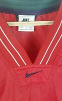 Nike Mens Size L Large V-neck Wind Golf Shirt colorblock Swoosh zip pockets p