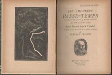 Fernand Fleuret.Les Amoureux Passe-Temps.6 Bois gravés de Sima.Poésies