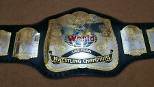 WWF Tag Team Championship Dual Plated Wrestling Leather Belt