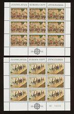 YUGOSLAVIA - Scott 1528-1529 - VFMNH two S/S of nine - EUROPA  1981