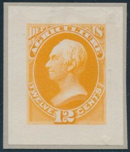 #O6P2 ROOSEVELT SMALL DIE ON WHITE WOVE PAPER SUPERB BS2749