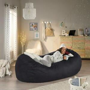 Bean Bag Chair 8 Foot Lounger Soft Love Sac Large Bedroom Kids Adults Lounge New