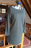 J JILL Ponte Shift Dress Boatneck Womens XS