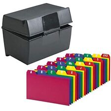 Index Card Holder Cards Storage Box Holds Up To 300 3x5 Cards With Poly Guides