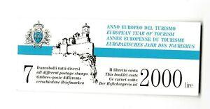 s35961 SAN MARINO 1990 MNH** Nuovi** Turismo libretto booklet