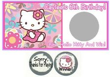10 Hello Kitty Birthday Party Baby Shower Scratch Off Game Card Lottery Tickets