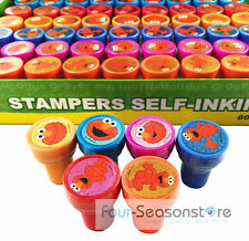 60ct Sesame Street Elmo Stamps Stampers self-ink toy Party Favors Party Supply