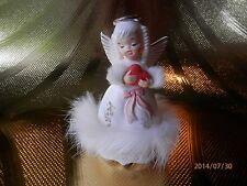 VTG  Napco February Birthday Angel Girl Figurine w/ Orig Sticker MINT BEAUTIFUL!