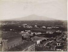 Catania Catane Panorama Sicile Italie Photographie Vintage Albumine c1880