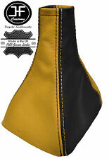 BLACK & YELLOW REAL LEATHER GEAR GAITER FITS VAUXHALL OPEL ASTRA MK3 III F 91-98