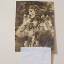 Mary Pickford SIGNED 1950 Paper with Photo  America's Sweetheart  Silent Films