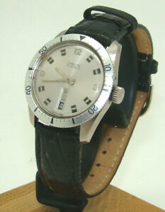 VINTAGE ORVIN MEN's 36mm STAINLESS STEEL DAY-DATE MANUAL WIND WATCH on STRAP